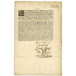 Muscovy Trading Company, 1717, 1000 Carolian Guilders.