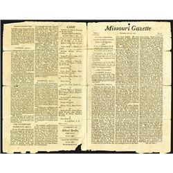 Missouri Gazette, Tuesday, July 26, 1808, St. Louis, Louisiana, Volume 1, No.3.