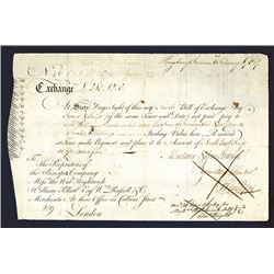 Principio Company 1769 Colonial Bill of Exchange.