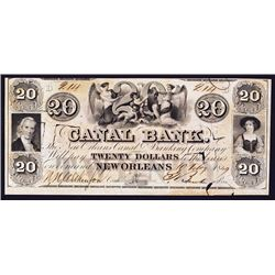 Canal Bank - New Orleans Canal & Banking Co.1849 Rare Issued Banknote.
