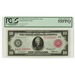 U.S. Federal Reserve Note, Series of 1914, $10, Fr.893b, New York Branch.