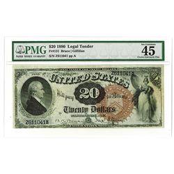 U.S. Legal Tender, $20, 1880 Fr#131, Large Brown Seal, Bruce | Gilfillan Signatures.
