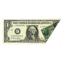 U.S. Federal Reserve Note, Series of 2003, $1, Spectacular Fold-Over Error Note.