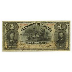 Dominion of Canada, 1898, $1 Issued Banknote.