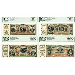 Banco Nacional de Chile, 1878-1879 Specimen Banknote Quartet.