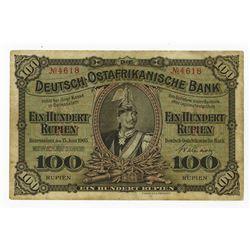 Deutsch-Ostafrikanische Bank, 1905, Issued Banknote.