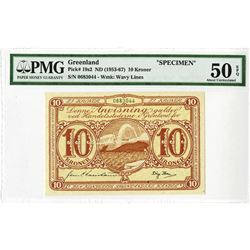 Greenland, Danish Administration, Finest Known ND (1953-67)  Issue Specimen Banknote.