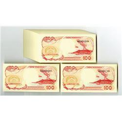 "Bank Indonesia, 1992 ""Serial #000001 to 000100 Original Pack."