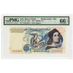 Banca d'Italia, 1997 Issued Replacement Star Note.