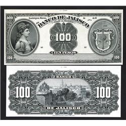 Banco De Jalisco ND (1900-1913) Proof Banknote Pair.
