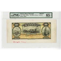 Banco Mercantil De Veracruz, ND (1898) Proof Uniface Front Banknote.