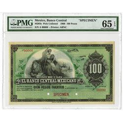 "Banco Central Mexicano, 1899 Specimen Bono de Caja ""Circulating Bond"" Issue."