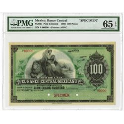 "Banco Central Mexicano, 1899 Specimen Bono de Caja ""Circulating Bond"" Issue."