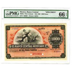 "Banco Central Mexicano, ca.1903, 1000 Pesos, Bono de Caja ""Circulating Bond"" Issue."