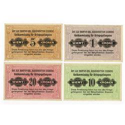 Germany/Austrian, World War I, Russian P.O.W. Scrip Note Quartet.