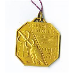 Bourse De Bruxelles, Comite De La Cote, Membership Medal, 1941, the coin is 20.2 Gms of 18K Gold