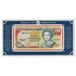 Bermuda Monetary Authority, 1992, Commemorative Banknote with Low S/N.