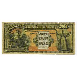 Republica Dos Estados Unidos Do Brazil, 1890's Contemporary Dental Advertising Note.