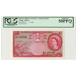 British Caribbean Territories, Eastern Group, Currency Board, 1960 Issued Banknote.
