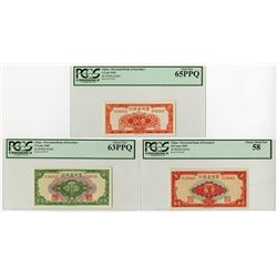 Provincial Bank of Kweichow, 1949 Banknote Trio.