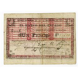 Banco del Estado, 1900, Issued Banknote.