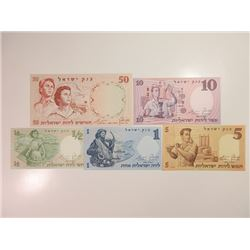 Bank of Israel, 1958-60 Issue Banknote Quintet.