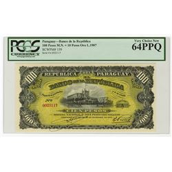 Banco De La Republica, Ley De 26 De Diciembre De 1907 Issue.