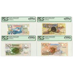 Seychelles Monetary Authority, ND (1979) Specimen Banknote Quartet.