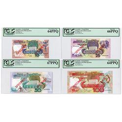 Seychelles Monetary Authority, ND (1989) Specimen Banknote Quartet.