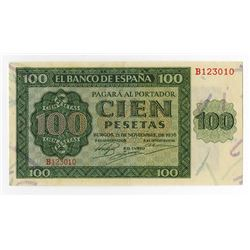 Banco De Espana, 1936 Issued Banknote.