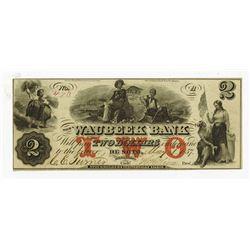Waubeek Bank, 1857 Issued Obsolete Banknote.