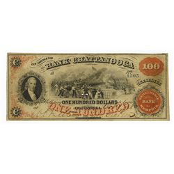Bank of Chattanooga, 1860 Obsolete Banknote.