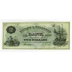 Bryant & Stratton Bank, 1879 Issued College Currency