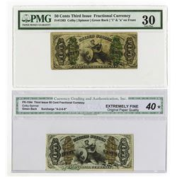 U.S. Fractional Currency, 50 Cents, Third Issue Fractional Duo.