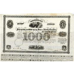 State of North Carolina, 1863 Issued Bond Zebulon Baird Vance, as Governor.