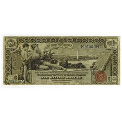 "U.S. Silver Certificate, $1, Series of 1896 ""Educational"" Note, Tillman 