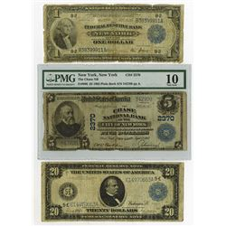 U.S. Large Size FRN, National Banknote Trio