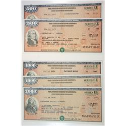 "U.S. Savings Bonds, Series EE ""Patriot Bonds"", 1992-2006 Bond Assortment."