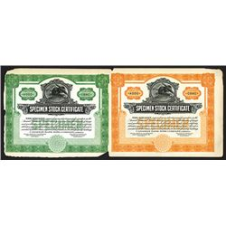 Canadian Bank Note Co. ca.1910-30 Specimen Sample Advertising Stock Certificates.