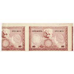 Experimental Specimen Sample Banknote in the Style of Bradbury, ca. 1900-1920.