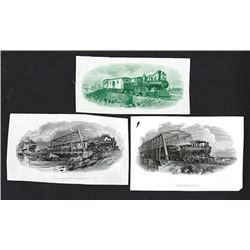 Steam Locomotive vignette proofs ca.1895 By International BNC..
