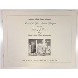 "ASDA ""Man of the Year Banquet"" 1993 Souvenir Folder with Intaglio Vignettes and U.N. Stamps."