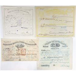 Louisiana Quartet of Warrants and Drafts, ca.1872-1914.
