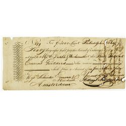Philadelphia 2nd of Exchange to Amsterdam dated 1794.