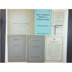 A Collection of Mostly 1920s and 1930s Stock Market Booklets and Pamphlets.