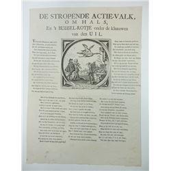 Broadside in Dutch, ca.1720, Satirizing John LawÍs Mississippi Company Land Scheme.