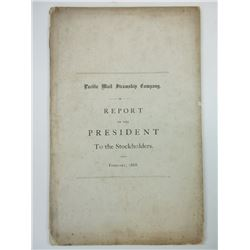 Pacific Mail Steamship Co., 1868 Report of the President to the Stockholders.
