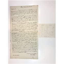 Letter from Peter Porter, Secretary of War in J.Q. Adams Administration, to William C. Bouck, 1835