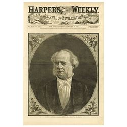 Harper's Weekly, 1877,  Featuring Commodore Vanderbilt and More.
