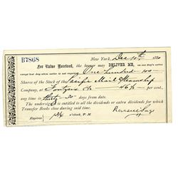 Russell Sage 1880 Put Certificate for Pacific Mail Steamship.